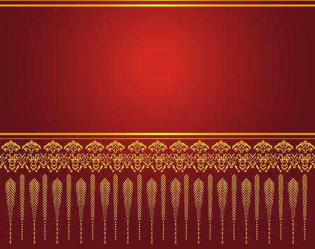 asian art: Thai art pattern vector, Asian Background Illustration