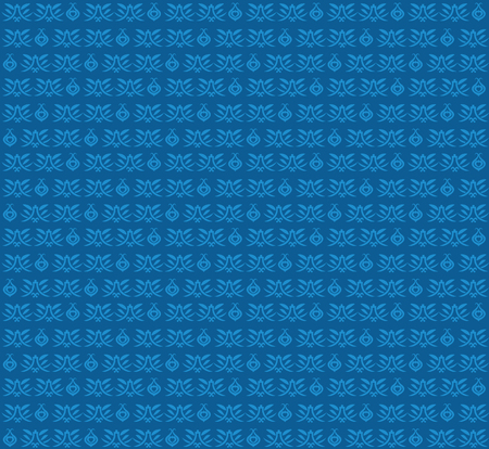Abstract blue background, flora pattern