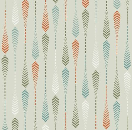 Nature Inspired Arrow Pattern. Seamless Vector background. 向量圖像