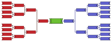 tournament bracket: Bracket tournament 16 Illustration