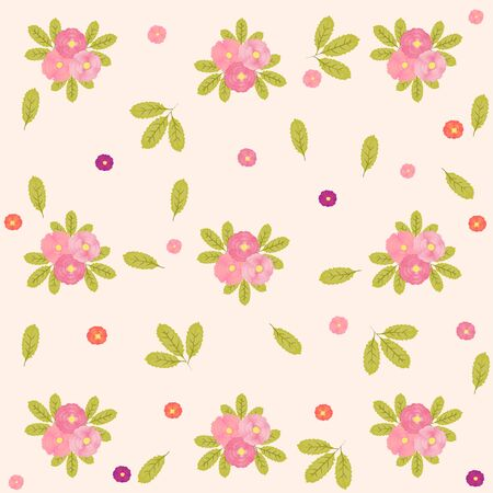 Spring Flower Background with Peonies