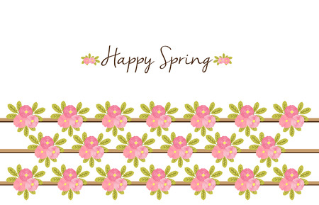 Happy Spring- Floral background with Peonies Stock Photo