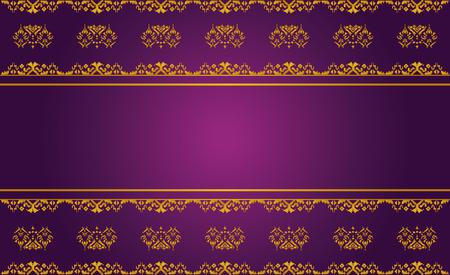 asian art: Asian Background, Thai art pattern Template Illustration