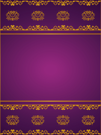 Asian Background, Thai art pattern Template Illustration