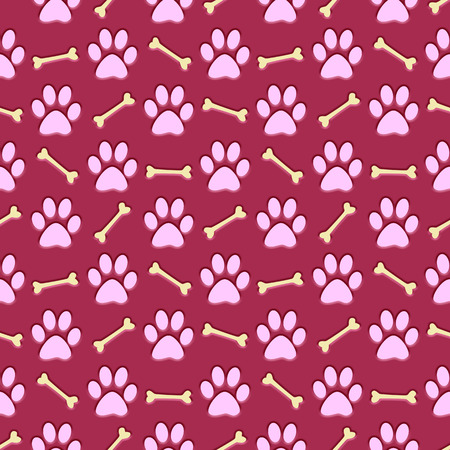 pink paw print repeat background photo
