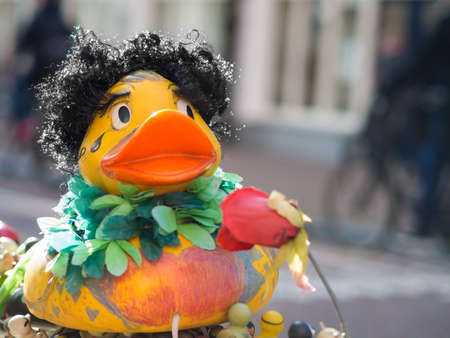 Afro Duck in Amsterdam Stock Photo