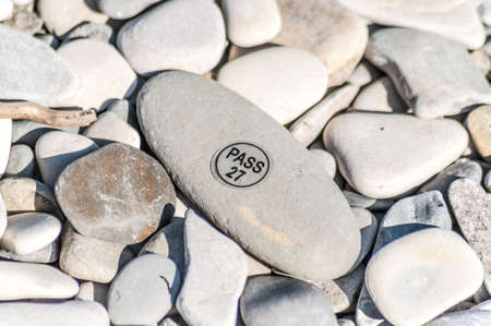 pebblestone: Sea pebble with sticker