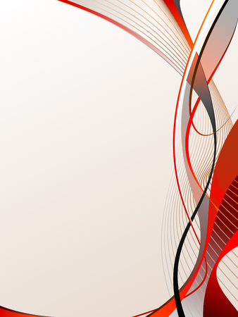 Red abstraction with much free space on light background Vector
