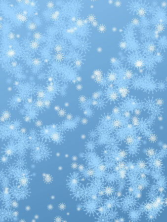 Winter background in cold blue colors with a lot of snowflakes Stock Vector - 7629068