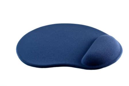 mousepad: Blue Gel Mousepad isolated on white background Stock Photo