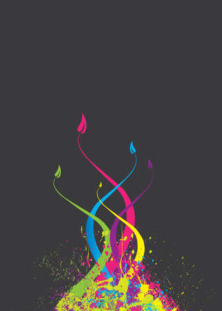 Abstract colorful floral illustration Vector