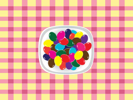 Colorful chocolate eggs. Easter background Vector