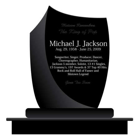 michele: Lapide di Michael Jackson - il re del pop Vettoriali