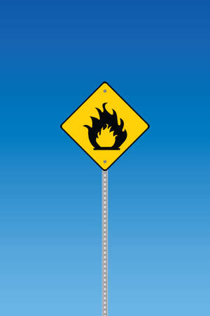 inflammable: Road sign - inflammable