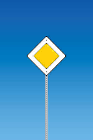 Road sign - priority  Vector