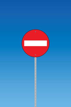 do not enter sign: Do not enter warning sign Illustration