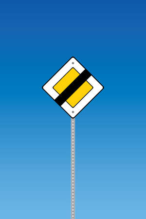 Road sign - end priority  Vector