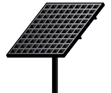 electric cell: Solar panel isolated on white background