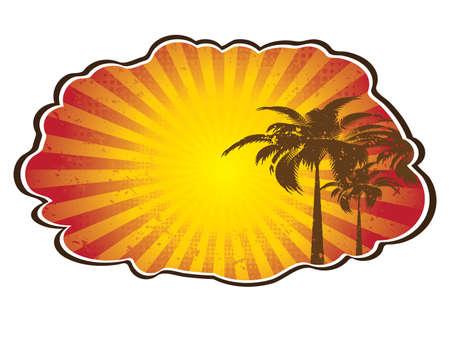 Tropical sun splash. Abstract summer Vector