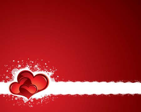 Red grunge valentine background Vector