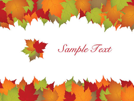 autumn leaf frame: Autumn leaves frame with text