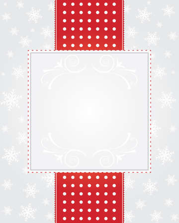 Silver christmas background with snowflakes - frame Vector