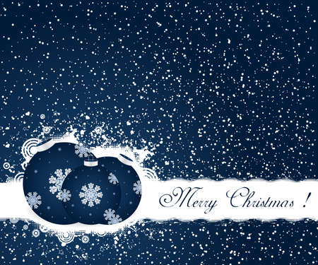 Christmas decoration background with text Stock Vector - 8412451