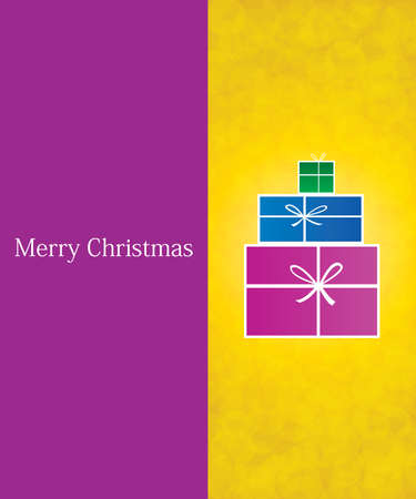 Purple and golden invitation card template - Christmas background Vector