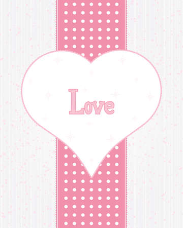 Vintage frame with heart and text Vector