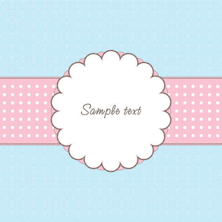 Vintage frame with heart and text Stock Vector - 8595178