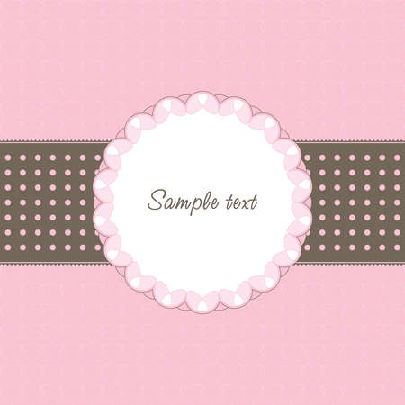 Vintage frame with heart and text Stock Vector - 8595177