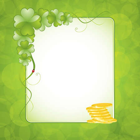 St. Patricks Day design - frame Vector