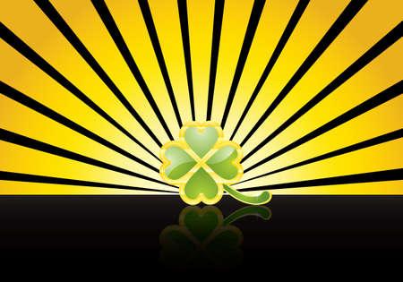 St. Patrick's Day design -jewelry shamrock Stock Vector - 8845231