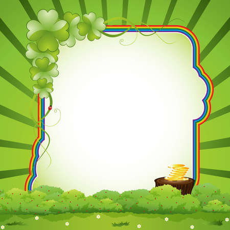 St. Patricks Day design - frame Vector