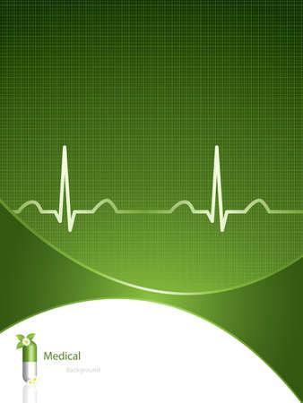 Groen Alternatieve medicatie concept - medische achtergrond  Vector Illustratie