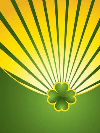 St. Patrick's Day design background - jewelry shamrock Stock Vector - 8881401