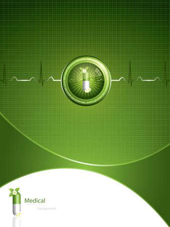Green alternative medication concept - Medical background