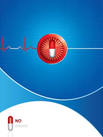 Anti-Drug medizinischen Hintergrund.Vektor Vektorgrafik