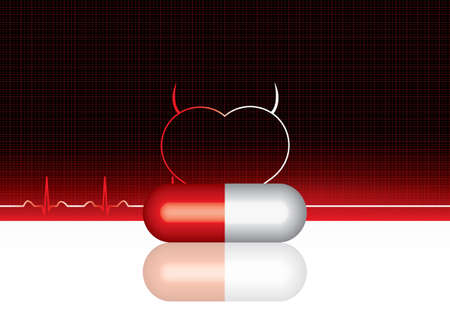 anti: Anti drug medical background.Vector Illustration