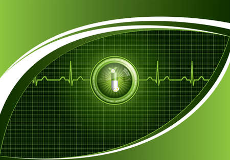 Green alternative medication concept - Medical background  Vector