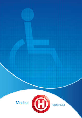 disabled access: Disabled persons supporting hospital template - medical background Illustration