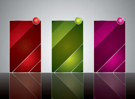 Three banner style web element Stock Vector - 9055709