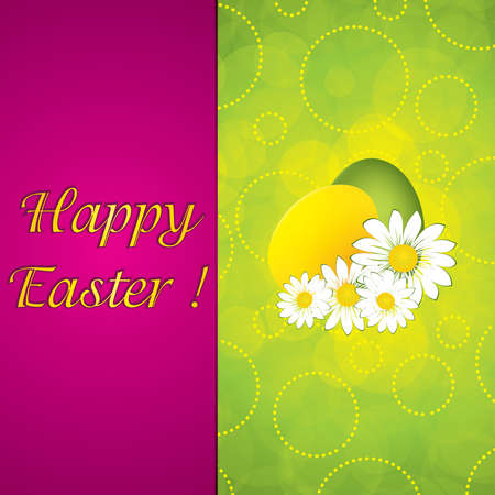 Purple Easter greeting card template.Vector Vector