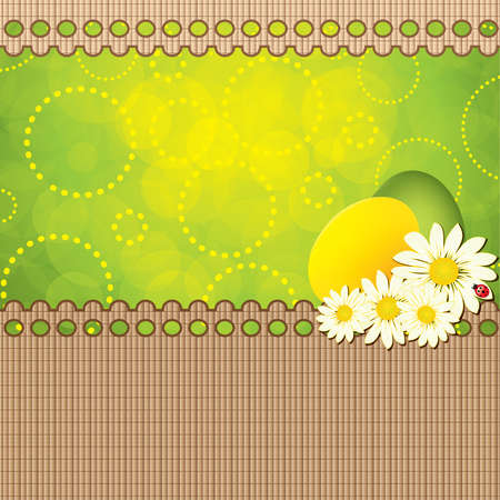 Green Easter greeting card template.Vector Vector