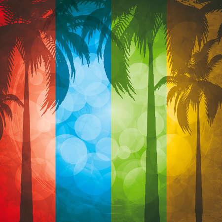 playas tropicales: Fondo de vacaciones de verano de grunge.Banner tropical