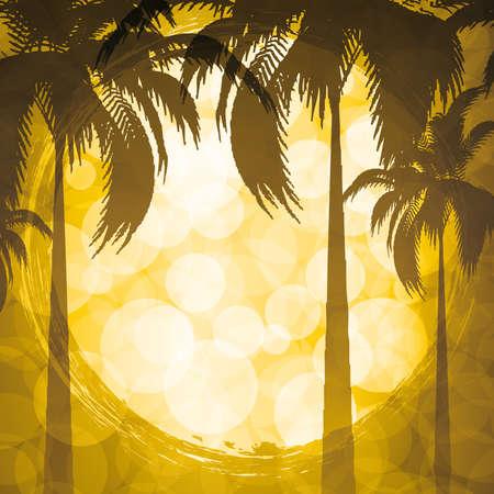 Golden tropical background Vector