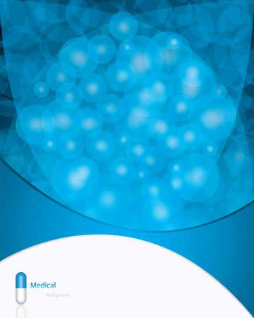 Blue alternative medication concept Vector