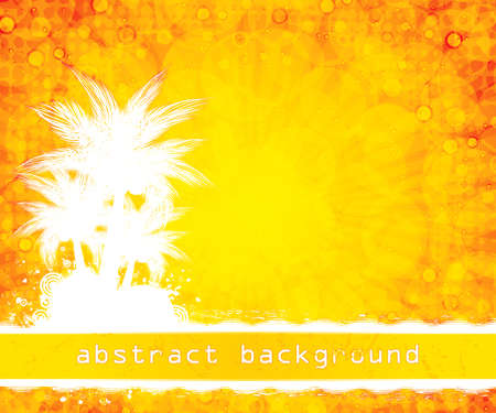 Abstract yellow summer background  Vector