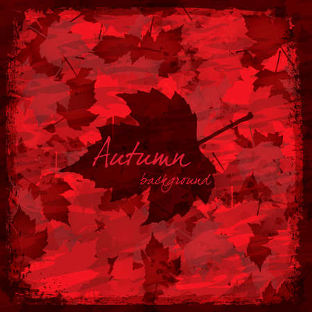 Red grunge Autumn - seasonal background Stock Vector - 10036795