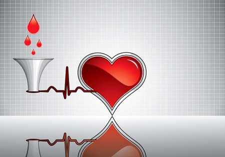 intentie: Bloeddonatie vector.Medical achtergrond